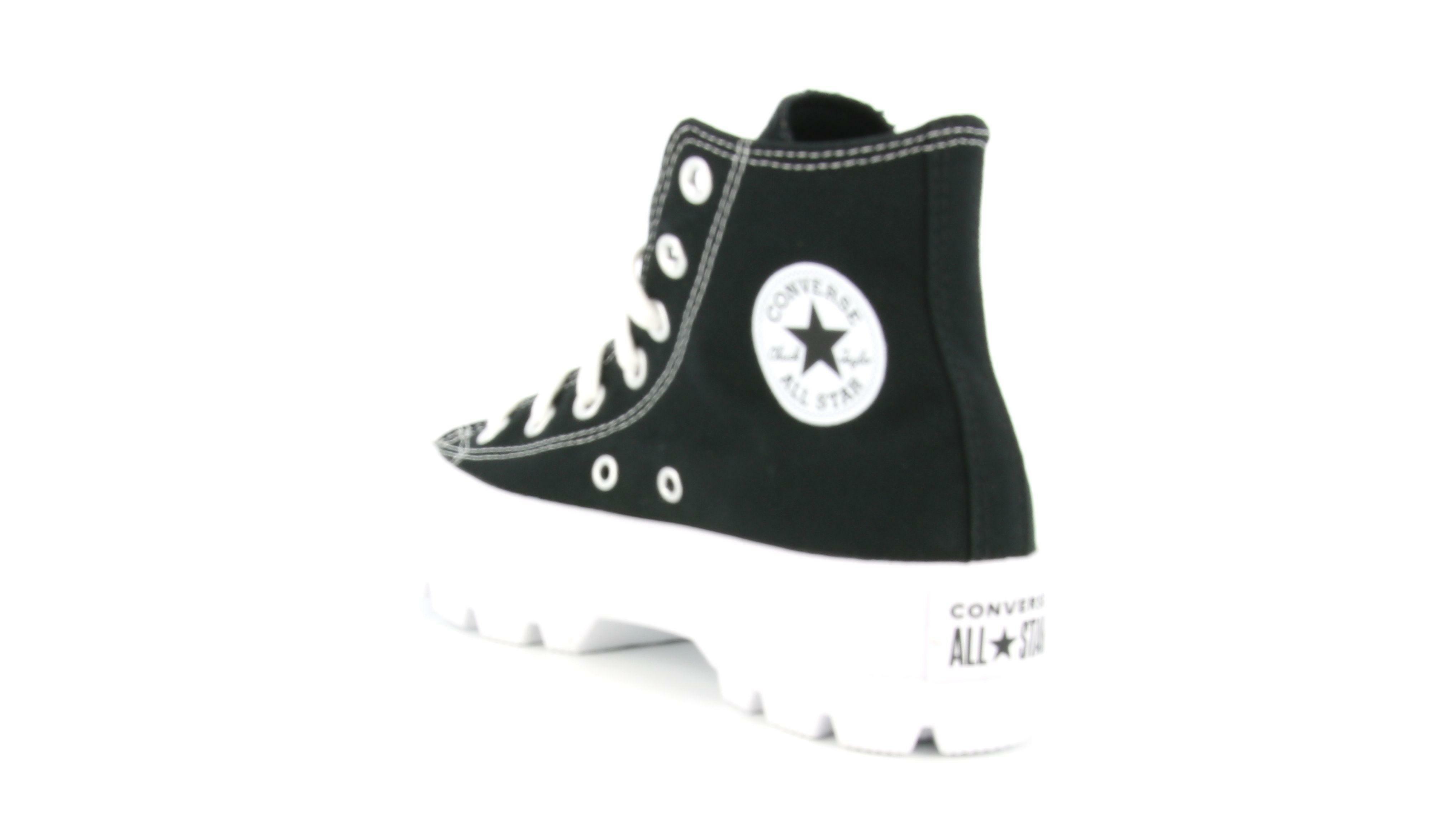 converse converse all star lugged hi 565901c da donna black/white/black nero