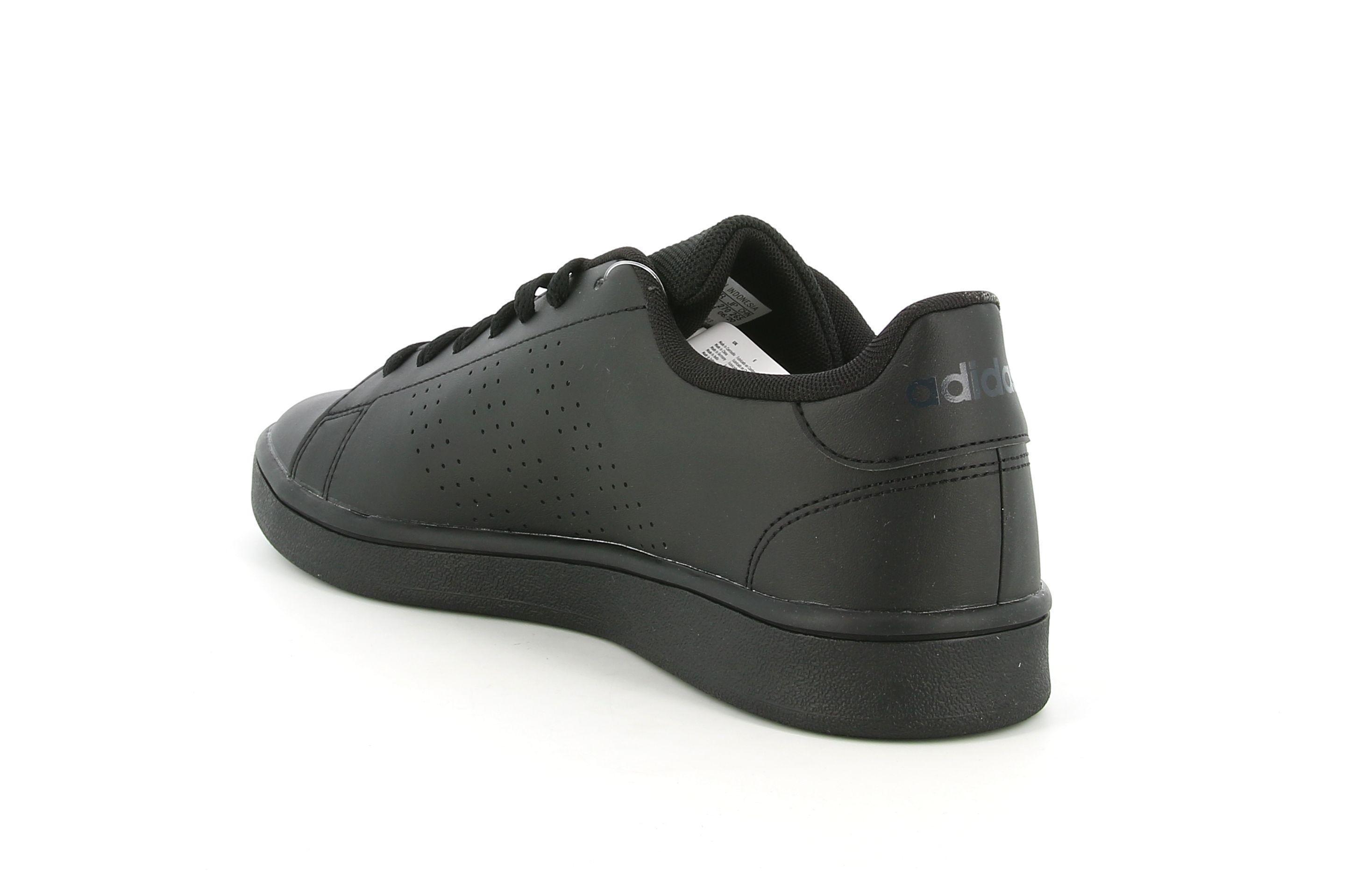 adidas adidas ee7693 advantage base cblack/gresix sneakers bassa uomo nero