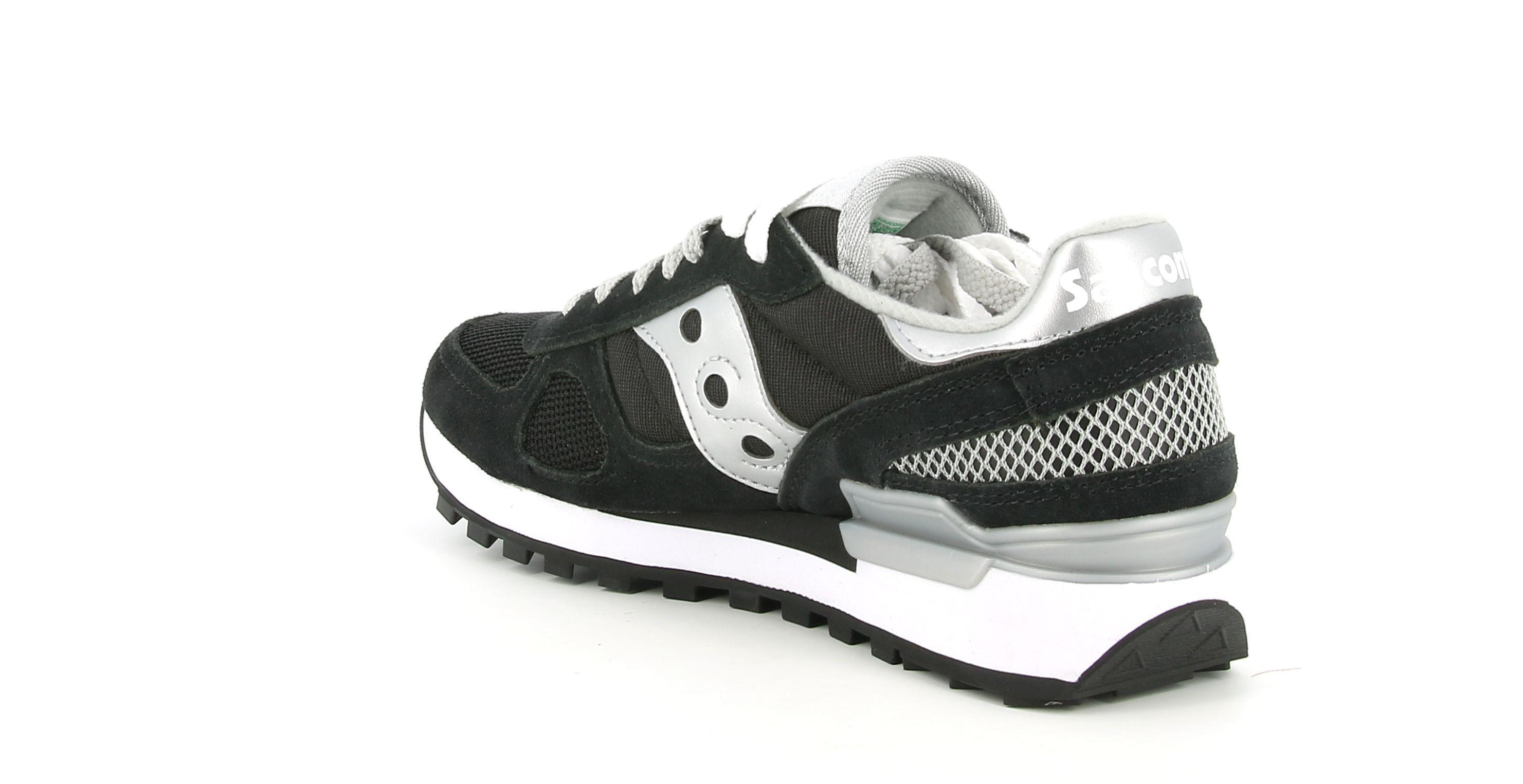 saucony saucony s1108-671 shadow sneaker donna  blk/sil/rep