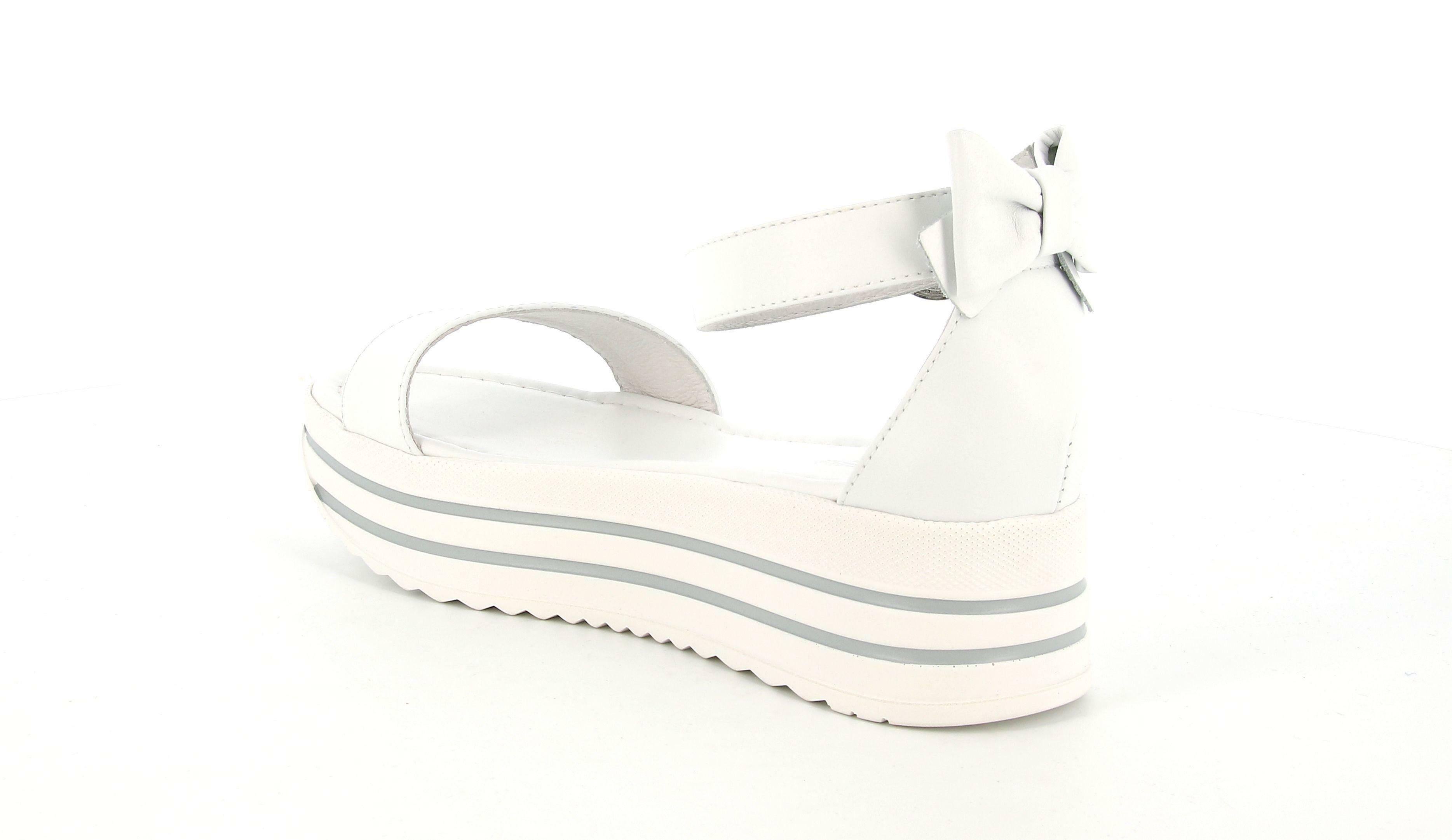 nero giardini nero giardini sandalo zeppa donna e012591d 707 bianco