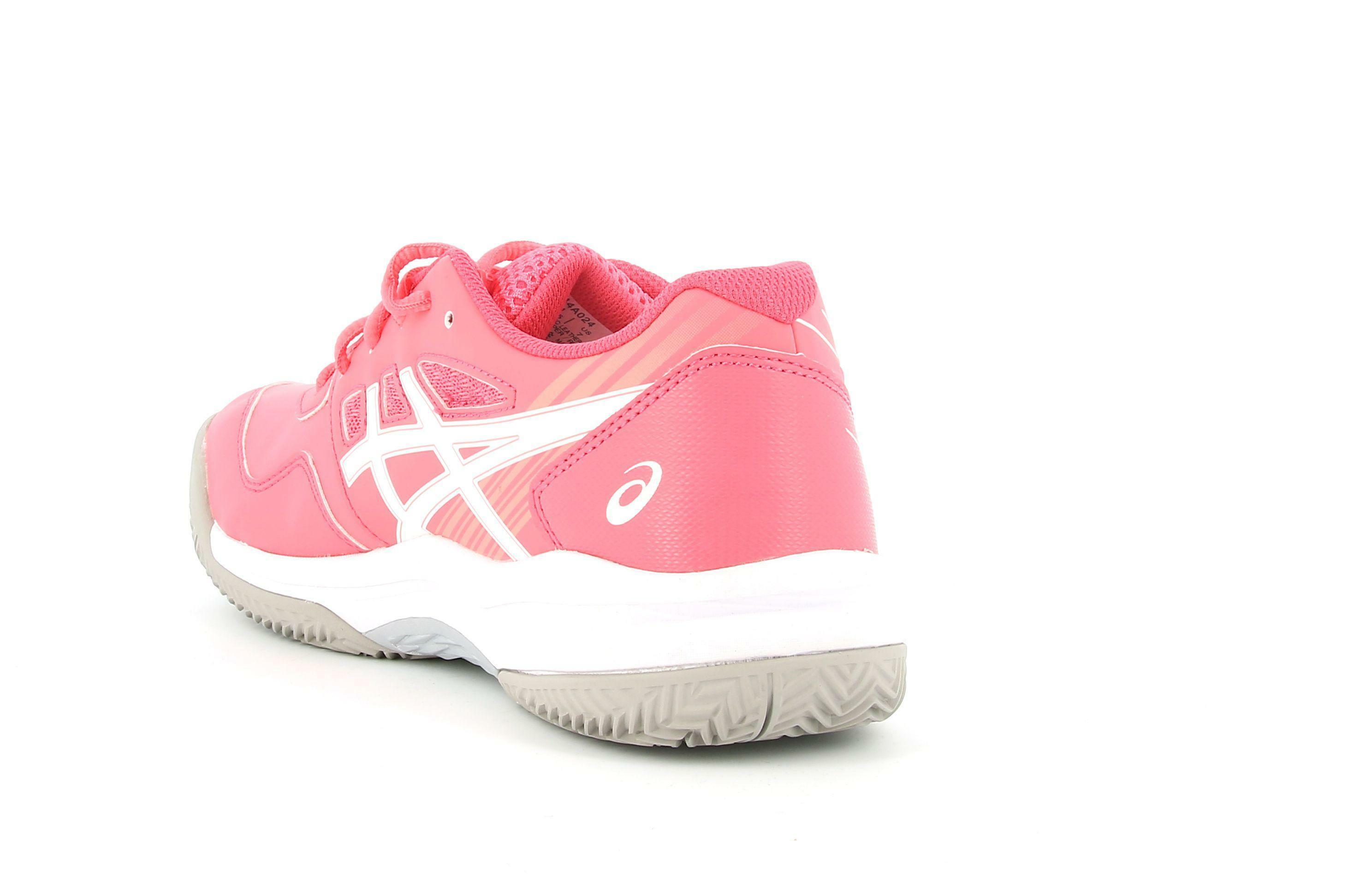 asics asics gel game 8 clay/oc gs 1044a024 scarpa sportiva tennis da donna rosa