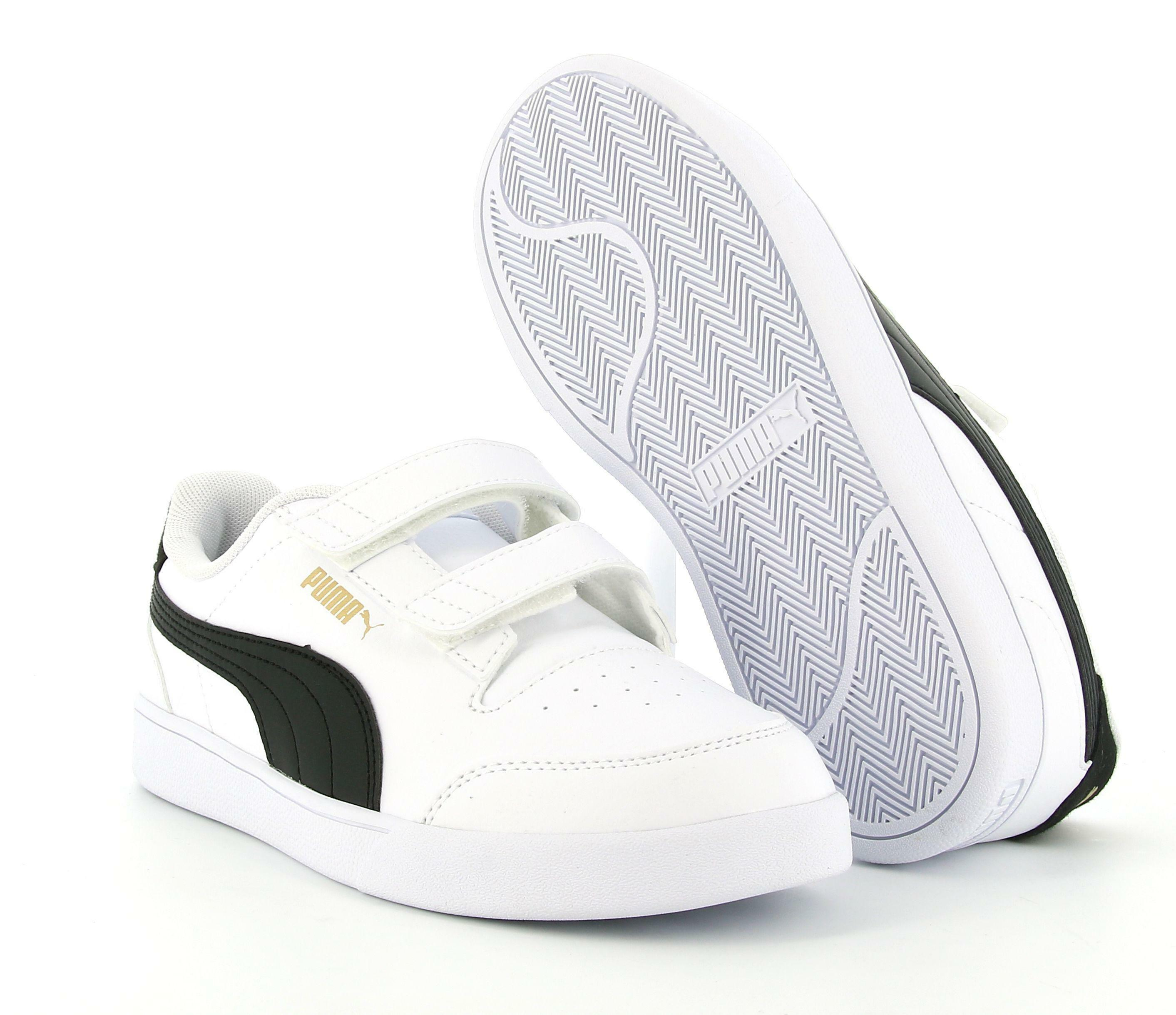puma puma shuffle v ps 375689 002 sneaker bassa bambino bianca
