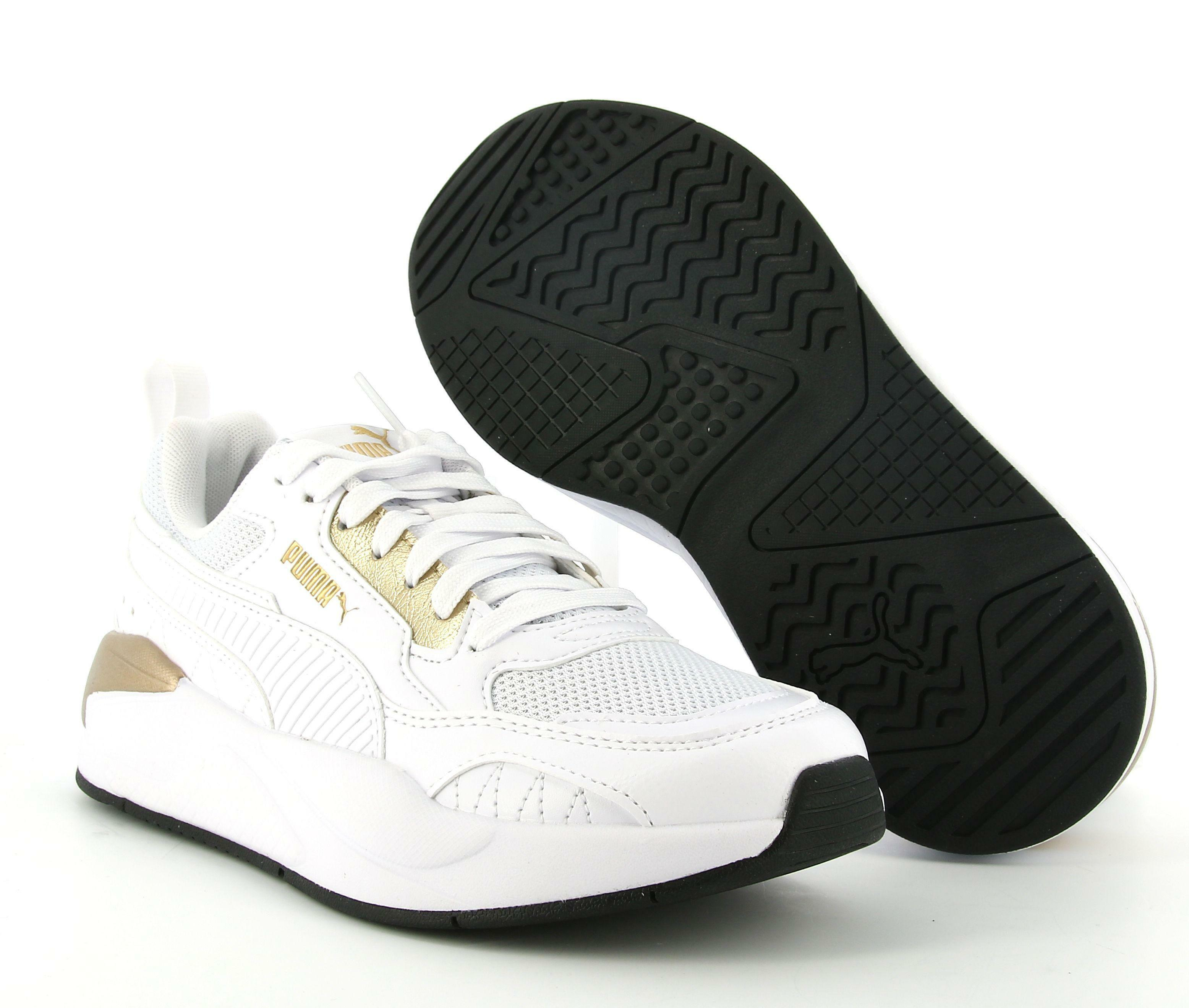 puma puma x-ray 2 square metallic  368855 002 sneaker donna bianca