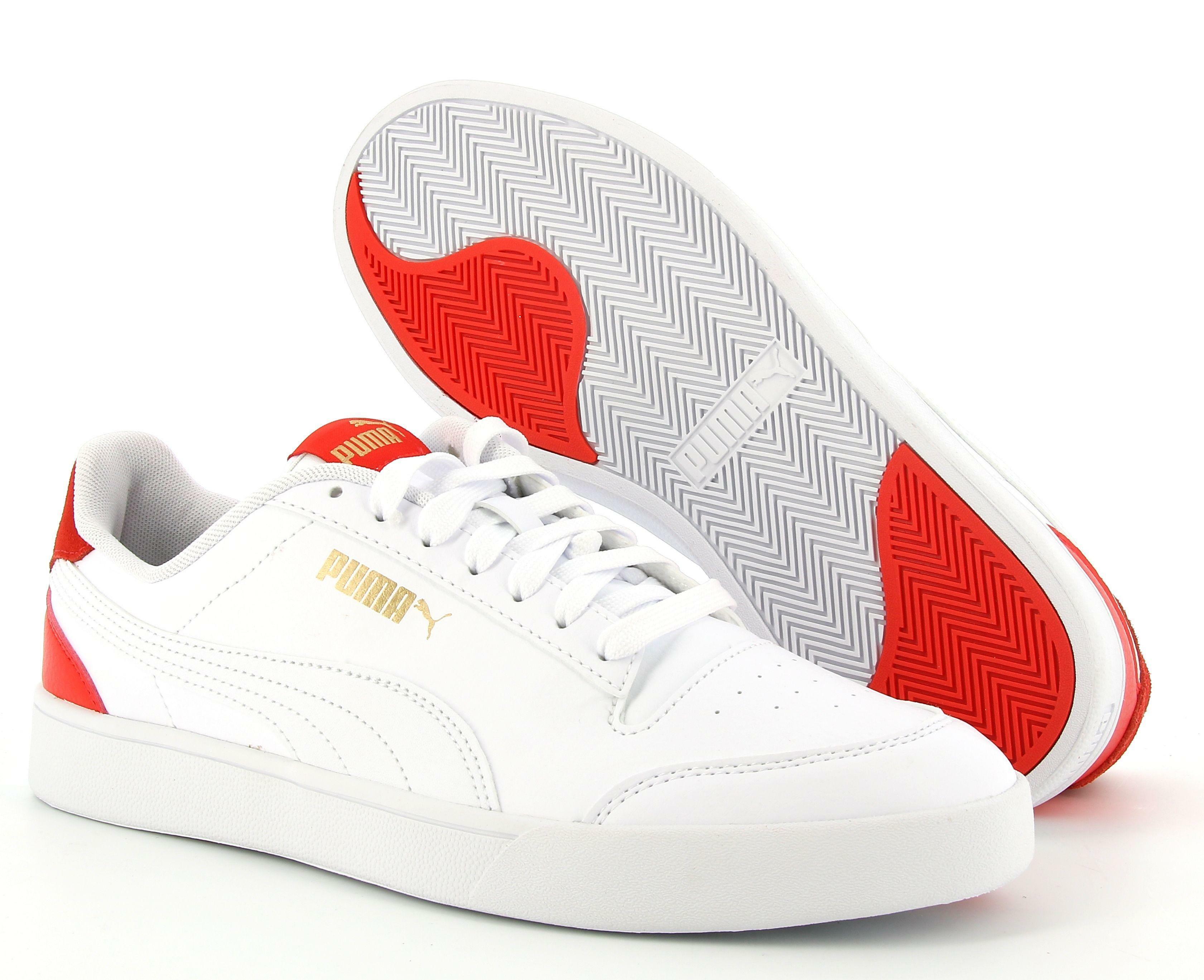 puma puma shuffle 309668 006 sneaker bassa uomo bianca