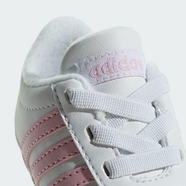 adidas adidas vl court 2.0 crib bambina culla f36603 bianco