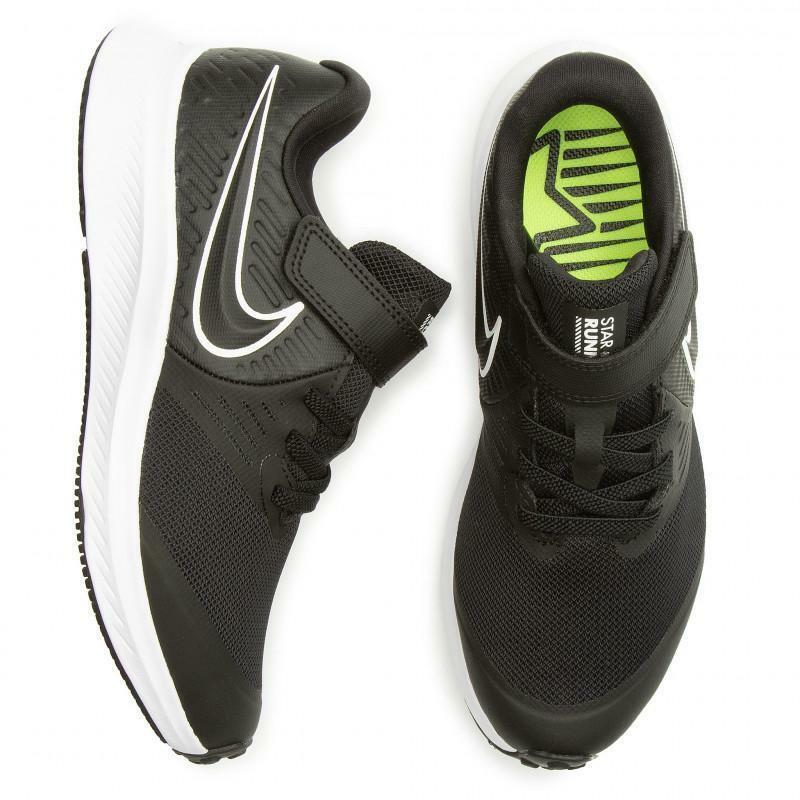 nike nike star runner 2 (psv) at1801 001 nero scarpa da ginnastica unisex bambino
